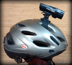 Picture of Cygolite Metro 300 USB rechargeable front bike light with helmet mount kit