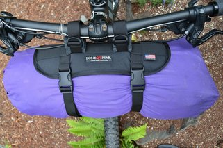 Picture of Lone Peak Handlebar Hauler System for bike packing tours and camping
