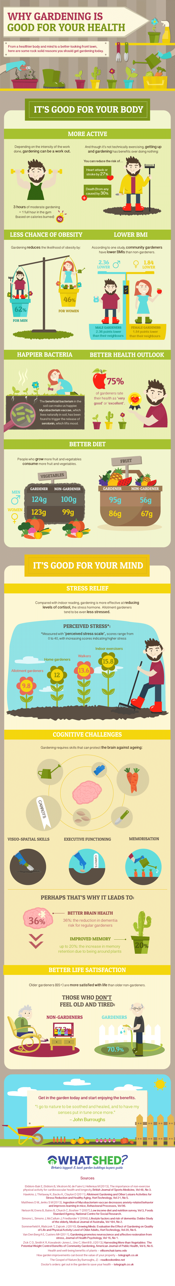 Picture of WhatShed Infographic of gardening for health