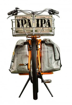 Bike with beer carrier for bicycle commuting