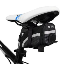 Picture of Bicycle Strap-On Saddle Bag, Seat Bag for bicycle touring and commuting