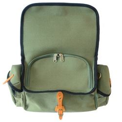 Picture of New Zimbale waterproof canvas handlebar bag with zippered interior closure