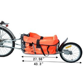 Picture of Aosom Solo Single Wheel Bicycle Cargo Trailer