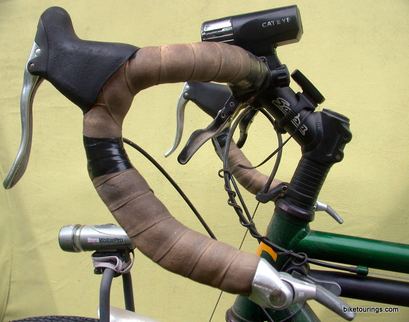 Picture of drop style handle bars for bike tourings
