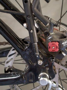Picture of mountain bike disc brake rack install