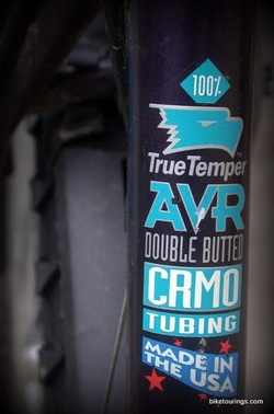 Picture of double butted crmo mountain bike frame tubing