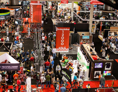Picture of vendors and customers at Interbike in Las Vegas, Nevada