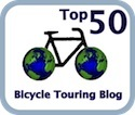 Picture of top fifty bicycle touring blog logo