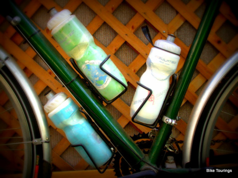 Picture of bike touring water bottles