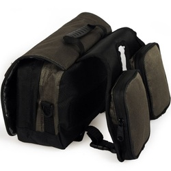 Picture of waterproof handlebar bag for bike touring and bicycle commuting
