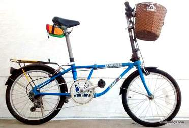 Picture of Dahon folding bike with Handlebar Basket