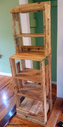 Picture of wood pallet shelving