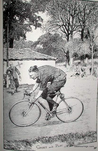 Picture man riding a bike