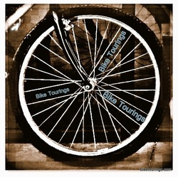 Picture of bicycle wheel for bike touring and bike commuting