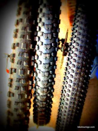 Picture of Kenda Small Block Eight, Kenda Nevegal and Kenda Kinetics mountain bike tires