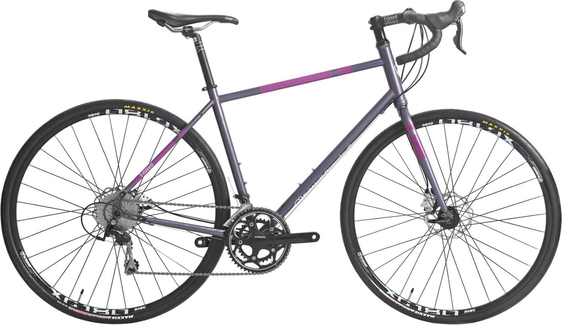 Picture of Fitwell Bicycle Company Fahrlander II aluminum grey bike for touring and commuting