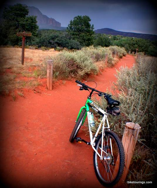 Picture of mountain bike trails in red rock country, Sedona, AZ