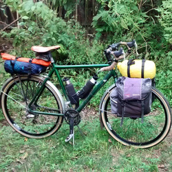 Picture of touring bike for bike packing