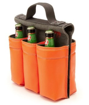 Picture of Six-slot Saddlebag Style Bike Bag, 6 Bottle Carrier with Handle