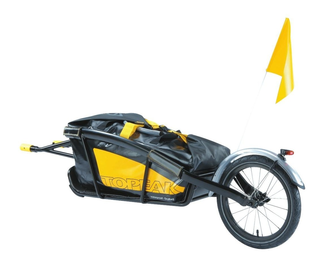 Picture of Topeak Journey Trailer Aluminum Main Frame Water Proof Drybag with Rear wheel, Rear Fender and Flag
