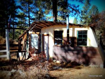 Picture of off grid building fun mountain biking retreat cabin