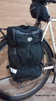 Picture of bike commuter bicycle panniers