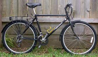 Picture of restored bike for bicycle touring and commuting