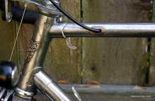 Picture of rear brake cable routing 1964 Puch Bergmeister.