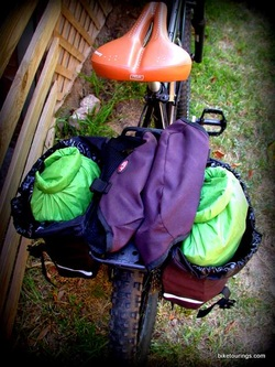 Picture of bicycle panniers for bike touring and commuting