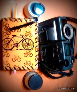 Picture of Nikon Coolpix Camera for bike touring