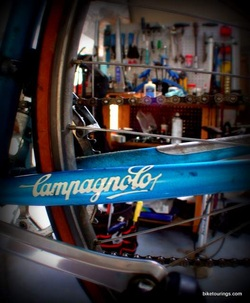 Picture of Razesa frame and Campagnolo logo