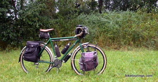Picture of touring bike for bicycle touring