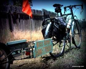 Picture of bicycle trailer for bike commuting and work