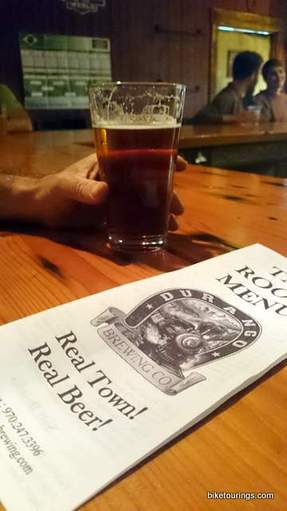 Picture of glass of beer pub crawl in Durango, CO