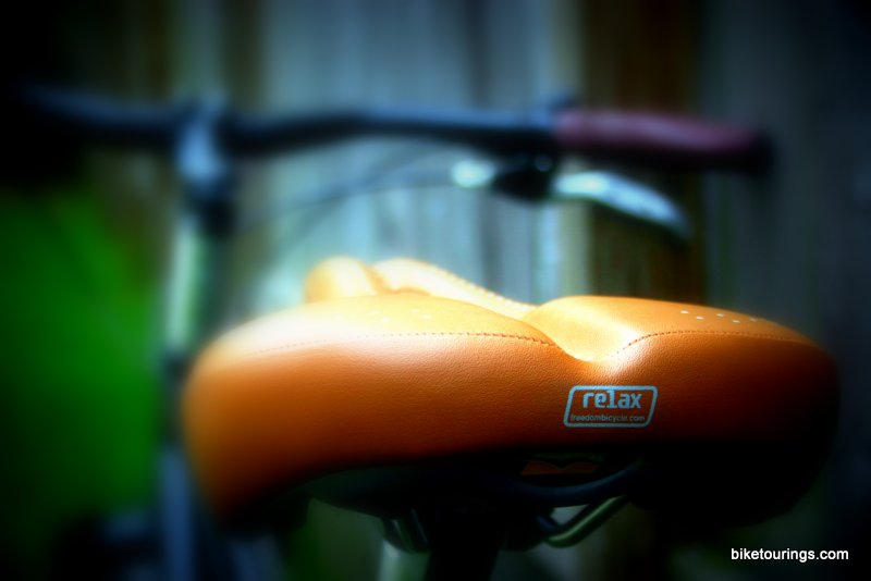 Picture of bicycle saddle for bike commuting