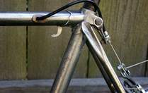Picture of Puch Bergmeister rear cable routing.