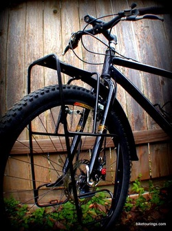 Picture of Minoura front steel front bicycle rack for mountain bike