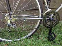 Picture of upgraded crankset on Puch Bergmeister.