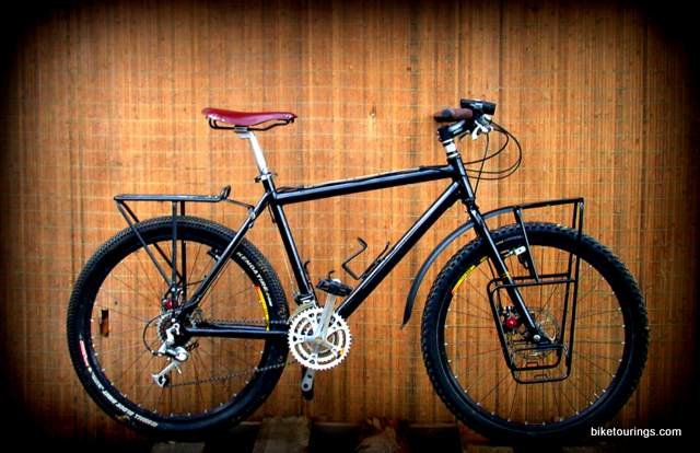 Picture of Nashbar double butted aluminum mountain bike frame build, fat bike