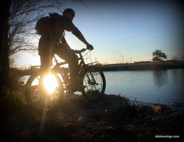 Picture of mountain bike rider off road bike touring