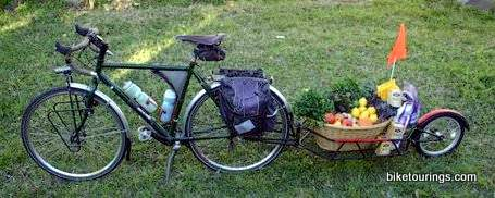 Picture of bike trailer for food delivery