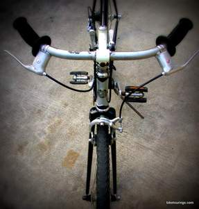 Picture of handlebars for bike commuter,