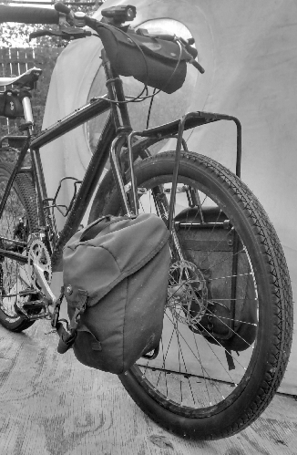 Picture of Delta Compact Panniers on front rack for bike tourings
