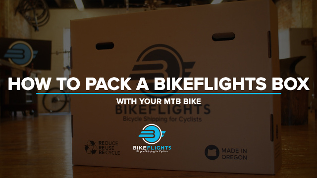 Picture of bikeflights box for packing a bicycle for taking on a plane for airline travel
