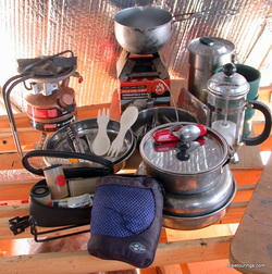 Picture of cookware for bicycle touring