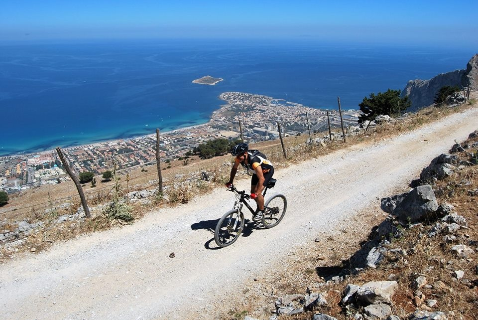 Picture of Bicycle Touring on a Mountain Bike