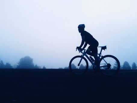 Picture of cyclist getting in shape for bike touring
