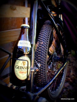 Picture of beer and mountain bike