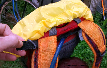 Picture of how to attach CamelBak Rain Cover