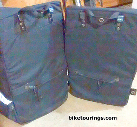 Picture of Trek Panniers attachment system to bike rack